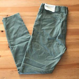 NWT LOFT Marisa Skinny Olive Jeans